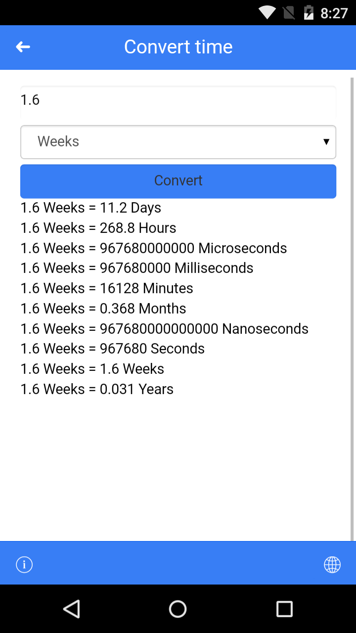 OneConverter mobile - android unit converter